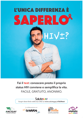 campagna hiv aids arcigay 2015